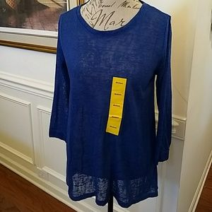 NEW Philosophy High Low Pullover Top Tunic Medium